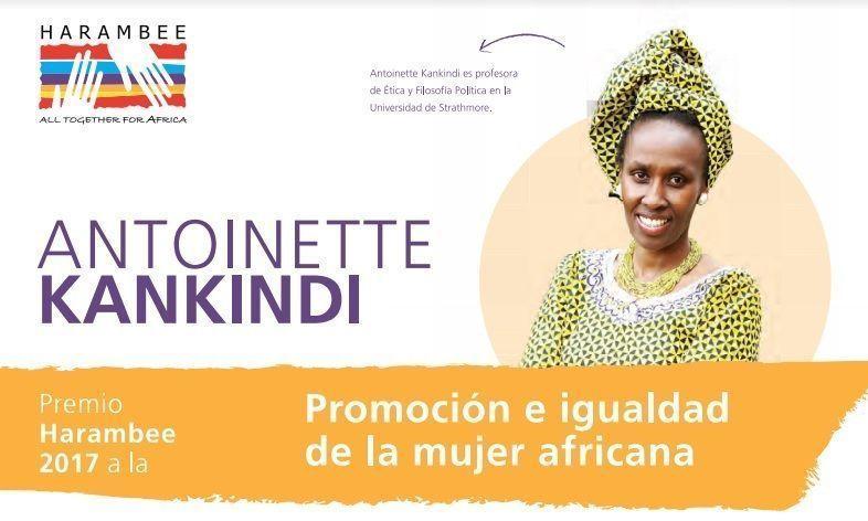 La filosofa Antoinette Kankindi, Premio Harambee 2017 a la Promocion e Igualdad de la Mujer Africana